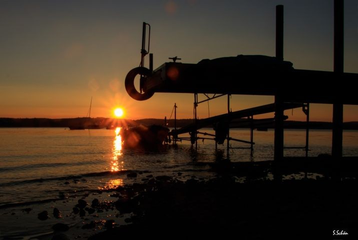 """Fellnasenstrand"" im Sonnenuntergang"
