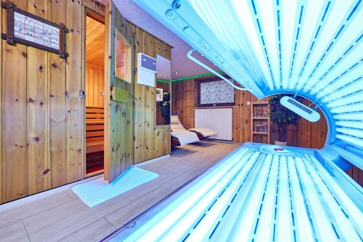 unser Saunabereich mit Solarium