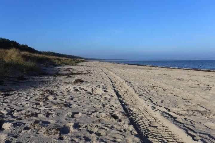der leere Hundstrand im November nur 100m entfernt