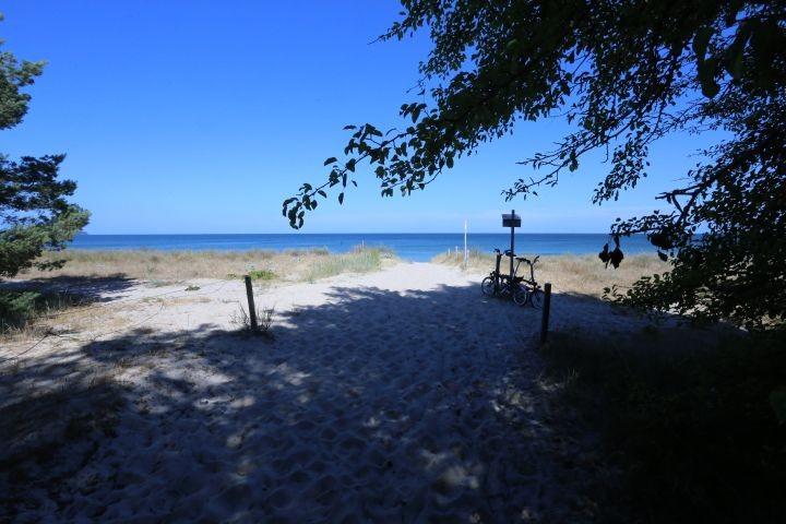 der Strandzugang