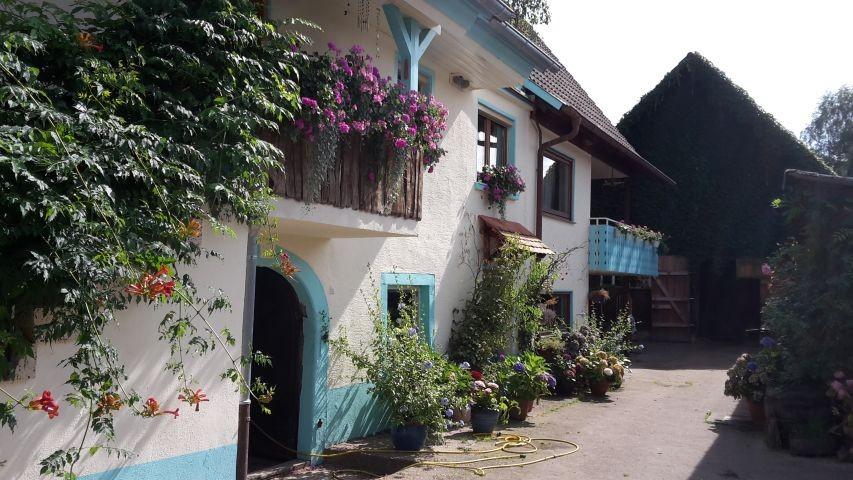 Innenhof, Eingang Ferienwohnung
