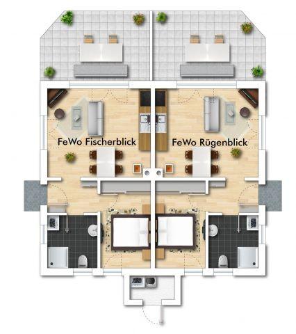 Grundriss des ganzen Hauses