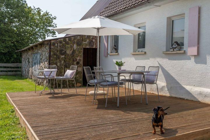 Terrasse, auch für die Zweibeiner!