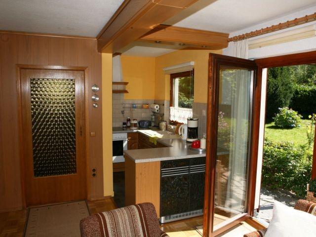 Blick auf Küche - Terrasse