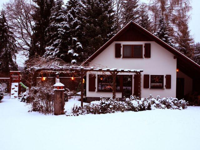 Ferienhaus Schott in Lengenfeld im Winter