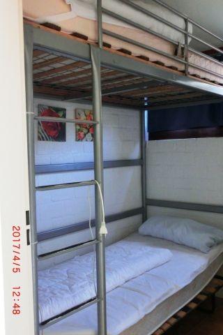 SZ Nr. 3 mit Etagenbetten ( unteres kann beiseite gestellt werden zum Aufstellen eines Kinderbettes