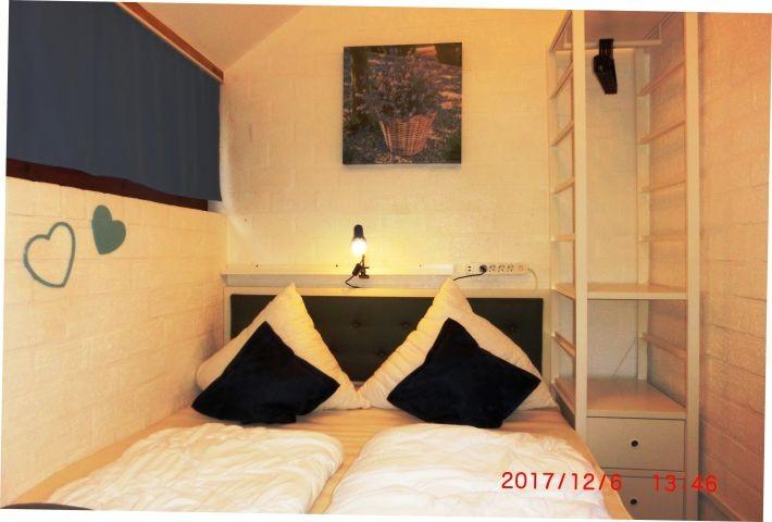 SZ Nr. 1 mit Doppelbett 160 x 200 cm und 2 Schrankelementen