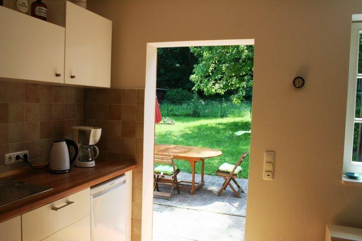 Zugang von der Küche in den Garten