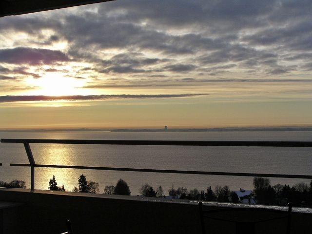 Blick von Ihrer Penthouse-Terrasse im winterlichen Januar