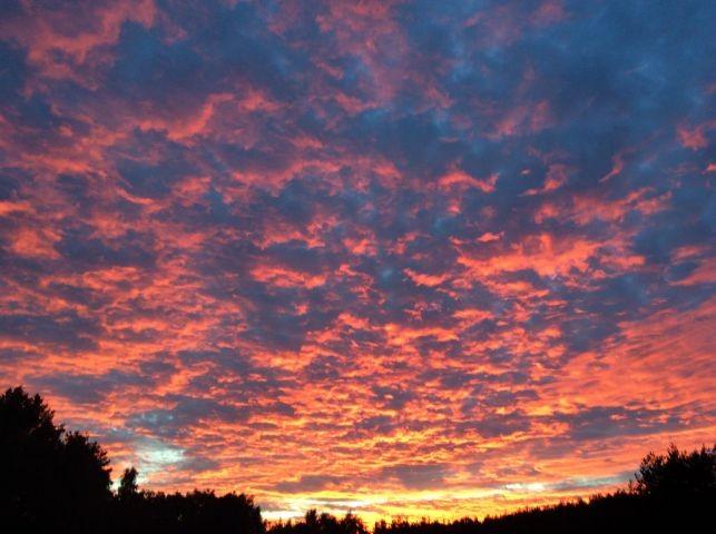 Blick von der Terrasse Sonnenuntergang