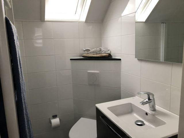 Tageslichtbad im OG mit Regendusche und Glas-Duschtür
