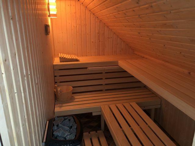finnische Sauna mit Vorraum