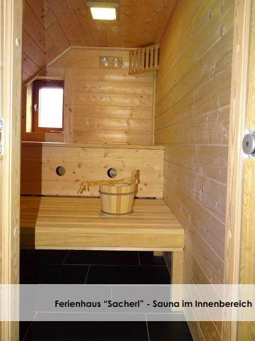 Sauna im Innenbereich.