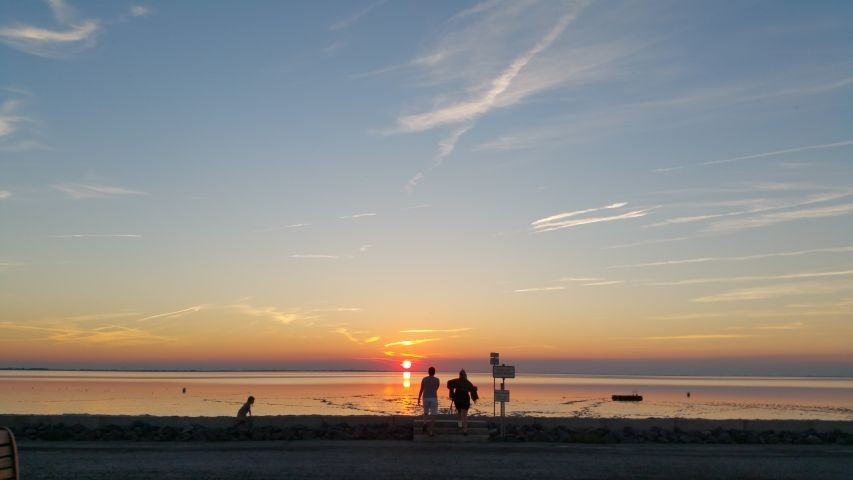Sonnenuntergang am Strandbad Sehestedt