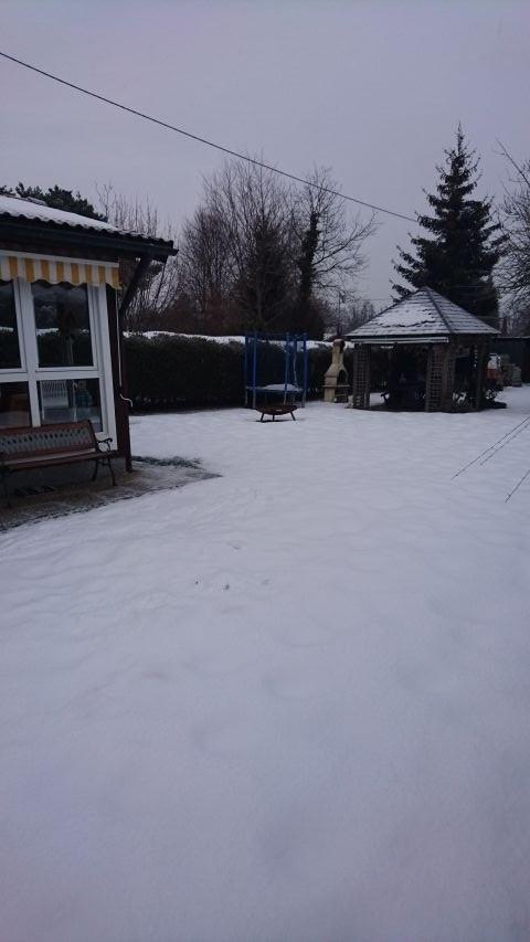 Unser Häuschen im Winter