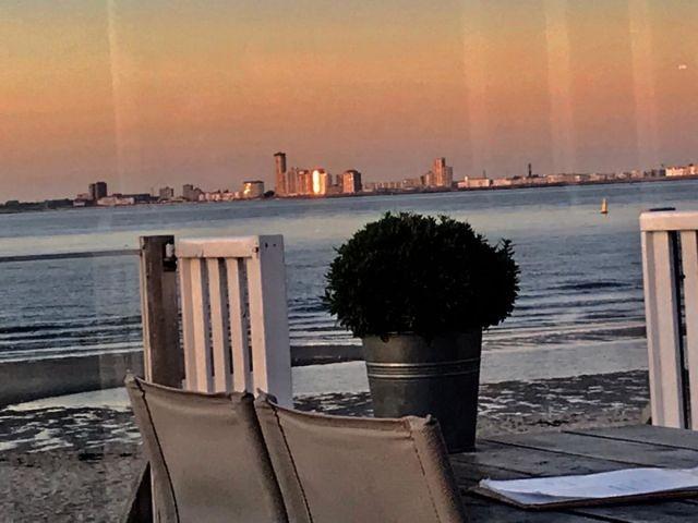 Abendstimmung am Meer mit Blick auf Vlissingen