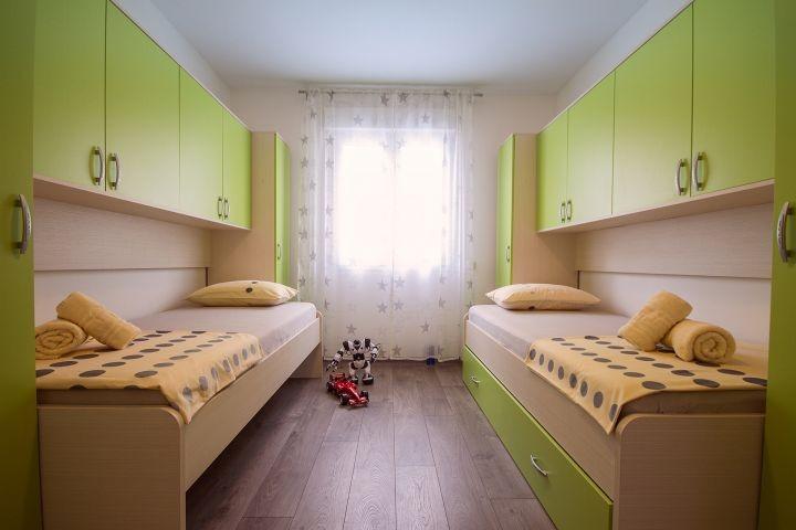 Schlafzimmer Nr. 3 mit 3 Einzelbett 90x200cm