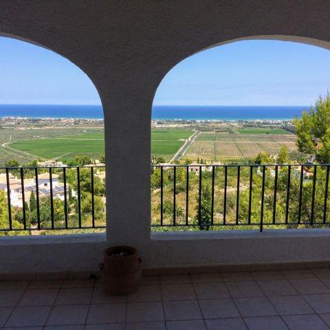 Ausblick von der überdachten Terrasse