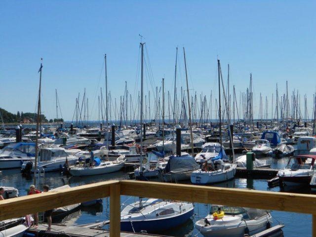 Aussicht Hafen und Ostsee