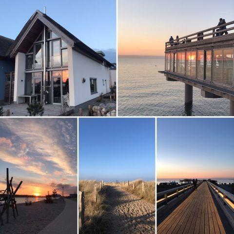 Traumhaus, Seebrücke, Binnensee und Strand