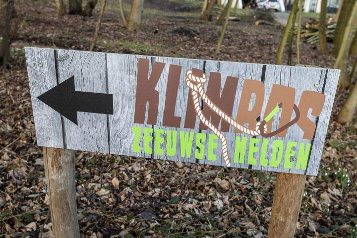 Hier geht es zum Kletterwald (10 Min zu Fuß Richtung Strand)