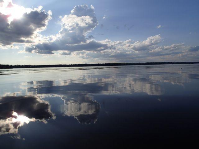wundervoller Ausblick über den See Unnen