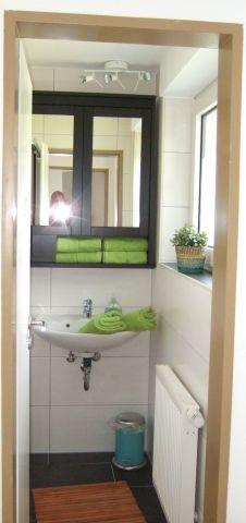Klein, aber sauber und fein: Das Duschbad