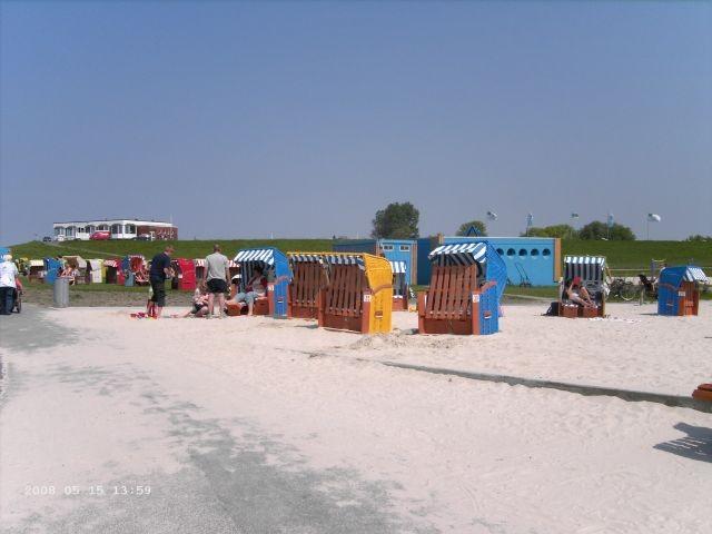Tossens Strand im Sommer