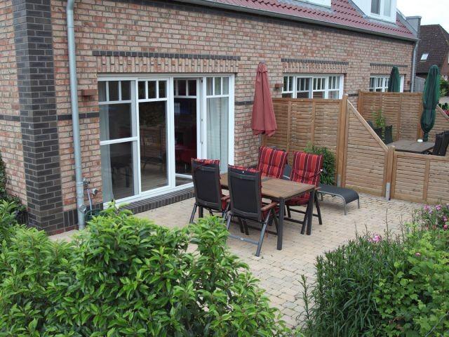 Die Terrassen der Dreimaster Häuser bieten viel Platz