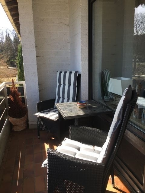 Balkon mit Sitzmöglichkeit