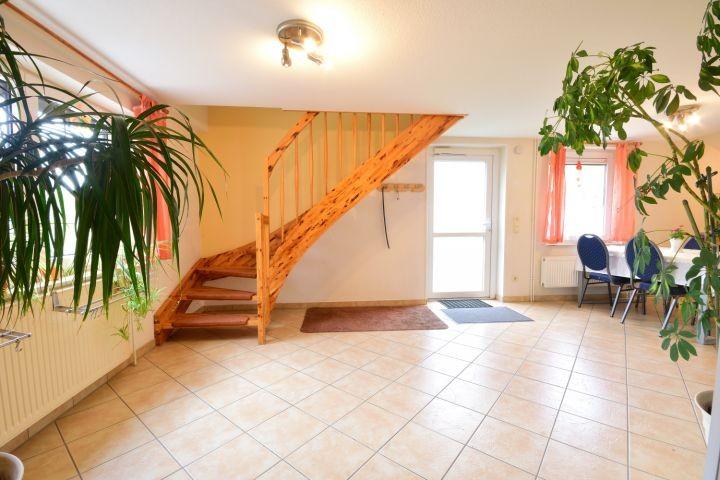 Treppe zu den Schlafzimmern