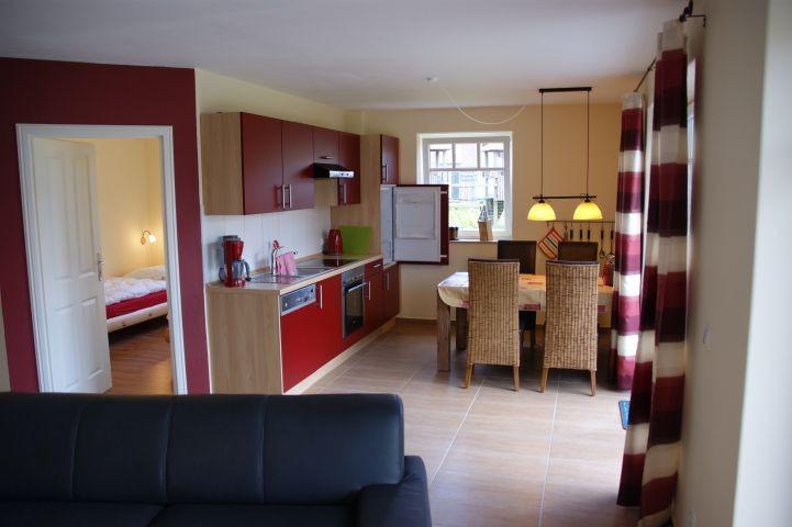 Essbereich und Küche untere Wohnung