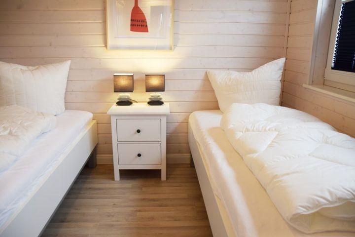Einzelbettenschlafzimmer II Ferienhaus Sorgenfrei