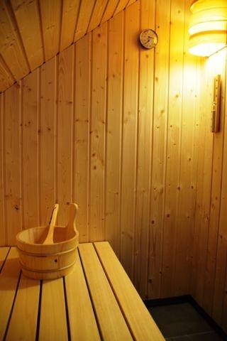 Sauna im Ferienhaus Sorgenfrei