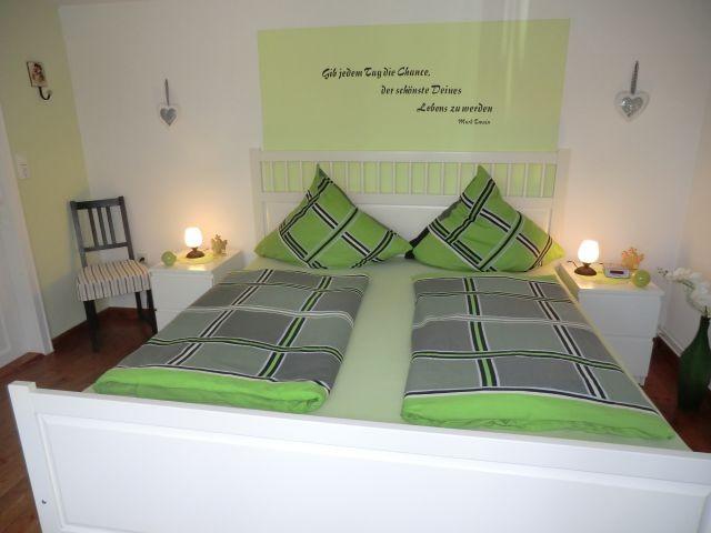 grünes Schlafzimm im Erdgeschoss