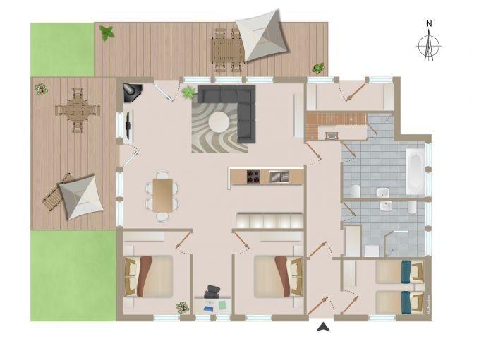 der Grundriss des Hauses