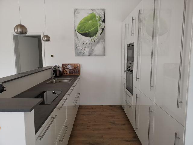 die Küche ist komplett eingerichtet.