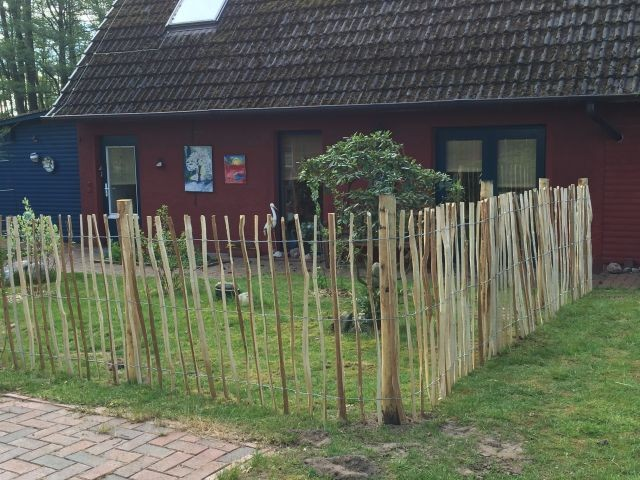 Eingezäunter Garten - Ferienhaus Borchert in Dötlingen