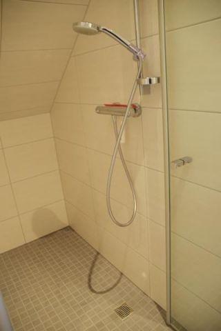 Blick ebenerdige Dusche