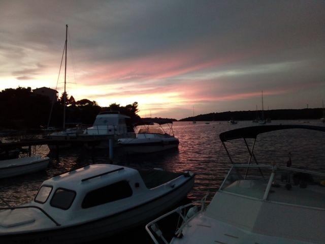 Sonnenuntergang in unsere Bucht