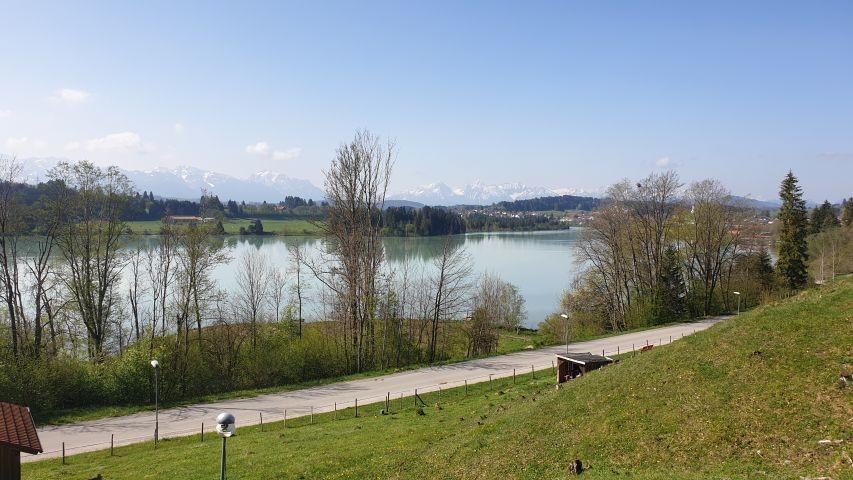 Blick über den Lechsee vom Feriendorf