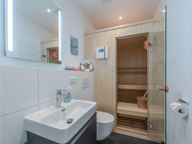 eigene Sauna im Apartment Pusteblume