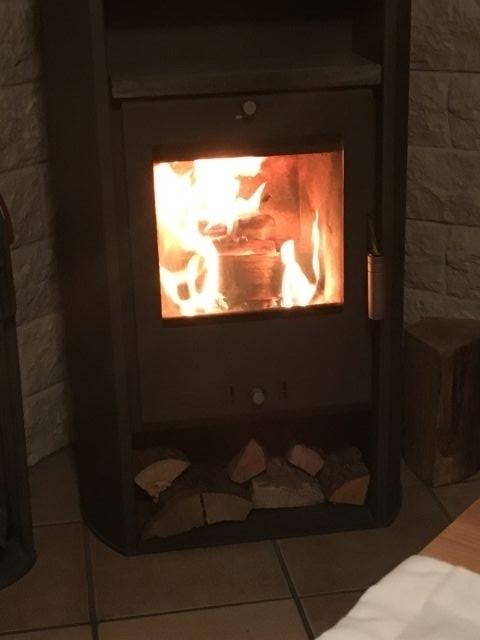 Der Kamin für die kühleren Abende