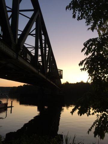 Eisenbahnbrücke am Baldeneysee