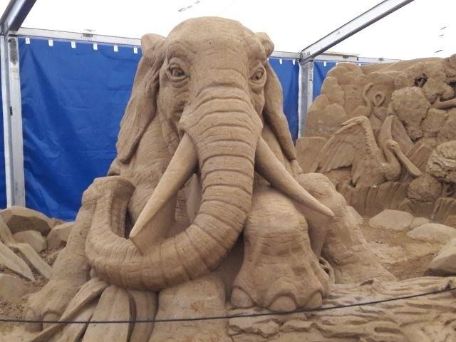 Sandskulpturen in Binz