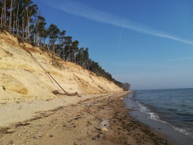 """Sandsteilküste am """"Gelben Ufer"""""""