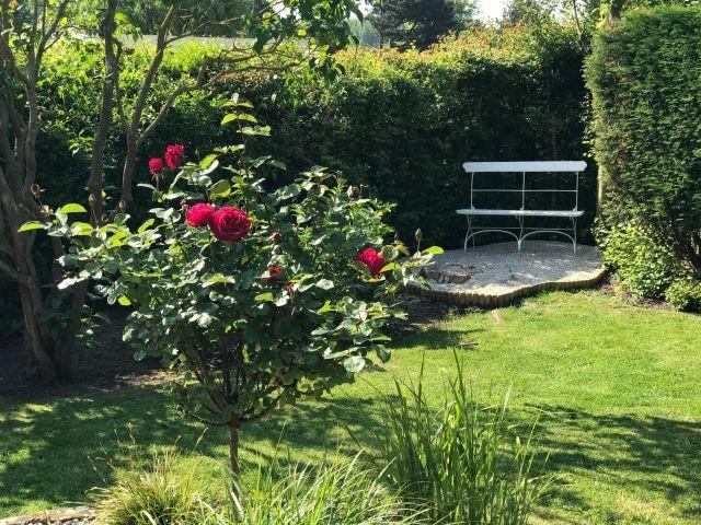 Gemütliche Gartensitzplatz
