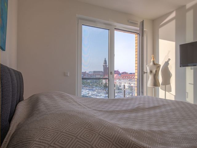 ein Bett mit Ausblick