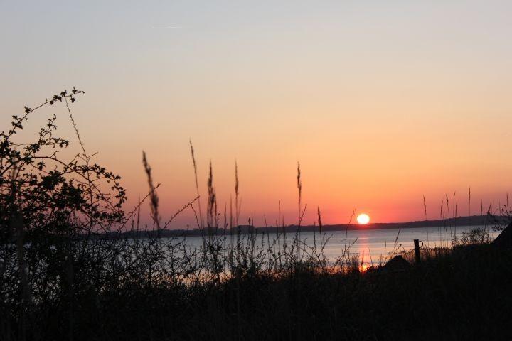 Sonnenuntergang (fotografiert vom Grundstück)