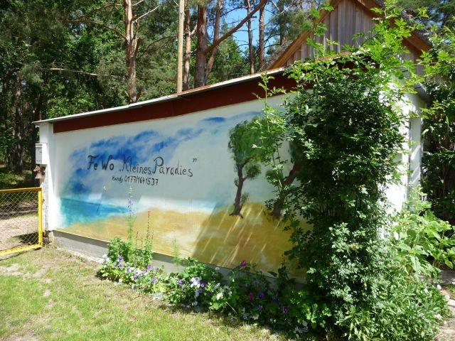 Eingangang Hofauffahrt mit Wandbild